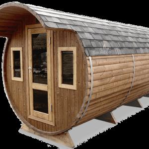 Three room barrel sauna from Sauneco