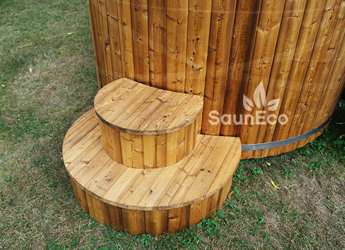 Thermo Spruce Wood Hot Tub With Plastic Inner - For 6 People - Easy ...