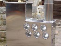 Internal Wood-fired Hot Tub Stove (45kW) - Marine Aluminium