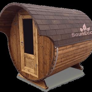 Wooden Barrel Sauna T20E from Sauneco