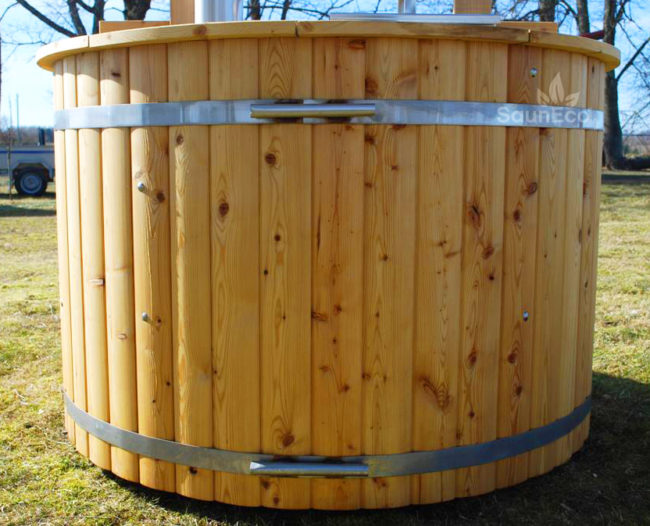 stainless steel covers for hot tub or sauna bands. Black Bedroom Furniture Sets. Home Design Ideas
