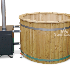 Wooden Hot Tub Bath Barrel from Sauneco