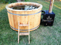 Wooden hot tub barrel