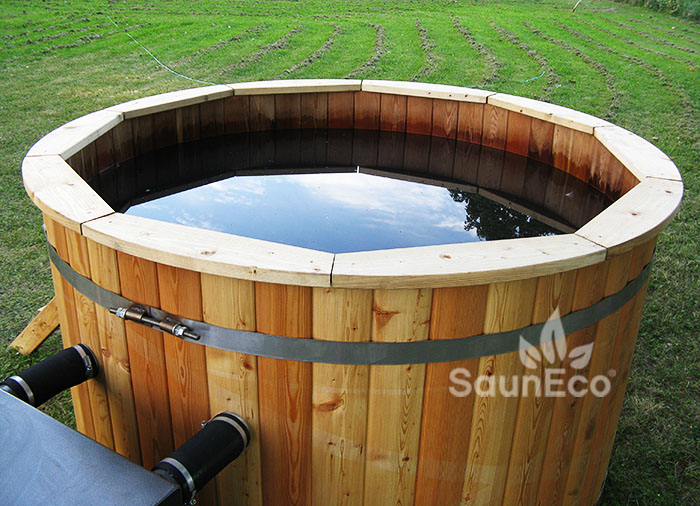 wood store tub fired gas hot wooden