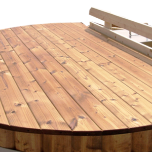 Wooden Cover For Hot Tub From Sauneco