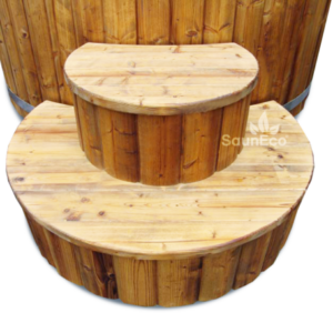 Wood Stairs For Hot Tub From Sauneco